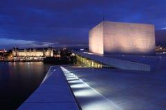 Oslo przy nocą Fotografia Royalty Free