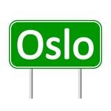 Oslo road sign. Royalty Free Stock Photo