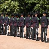 Oslo Royal Guards Stock Photo