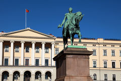Oslo Royal Palace. The Royal Palace (Slottet) in Oslo, the capital of Norway Royalty Free Stock Image