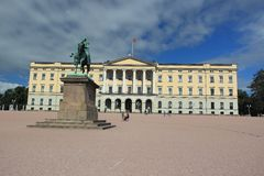 Oslo - Royal palace Royalty Free Stock Photography