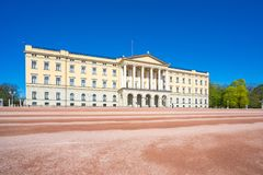 Oslo The Royal Palace landmark in Oslo city, Norway.  Stock Images