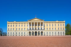 Oslo The Royal Palace landmark in Oslo city, Norway.  Royalty Free Stock Image