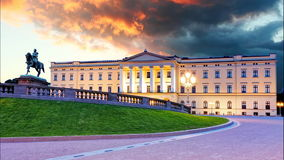 Oslo - Royal palace, Norway Stock Photo