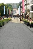 Oslo`s main street Karl Johans Gate Stock Photo