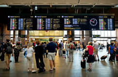 Oslo S - stazione centrale di Oslo Fotografia Stock Libera da Diritti