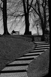 Oslo - schody Zdjęcia Royalty Free