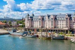Oslo schronienie i linia horyzontu Norwegia obraz royalty free