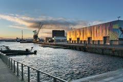 Oslo seaside harbor stock photography