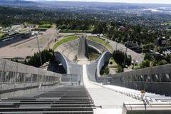 Oslo Ski Jump Tower imagem de stock royalty free