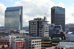Oslo skyline. Buildings of central Oslo, capital of Norway Royalty Free Stock Images