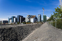 Oslo skyline and construction Stock Photo