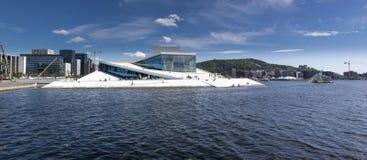 Oslo som är i stadens centrum, Bjoervia Bjørvika Norge royaltyfri bild