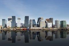 Oslo som är i stadens centrum, Bjoervia Norge arkivbilder
