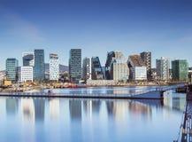 Oslo som är i stadens centrum, Bjoervia Norge arkivfoton