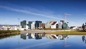 Oslo som är i stadens centrum, Bjoervia Norge royaltyfri fotografi