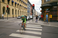 Oslo street, Norway royalty free stock images