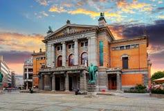 Oslo teatr narodowy, Norwegia obrazy royalty free