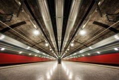 Oslo tunnelbana Norge Arkivfoton