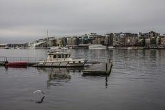 Oslo - una vista del Aker Brygge Immagini Stock