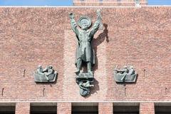 Oslo van de binnenstad Stock Afbeelding