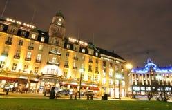 Oslo vid natt Royaltyfri Bild