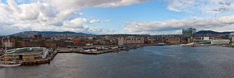 OSLO, view from the sea Stock Photography