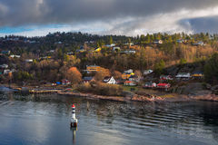 Oslofjord在奥斯陆 库存图片