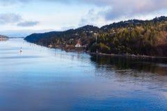 Oslofjord в Осло Стоковое Фото
