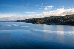 Oslofjord en Oslo Fotos de archivo libres de regalías