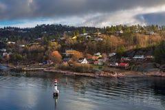 Oslofjord a Oslo immagini stock
