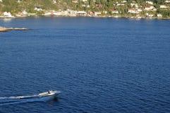 Oslofjord Wasser-Strasse in Norwegen lizenzfreie stockbilder
