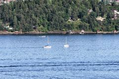 Oslofjord widzieć od hoved wyspy w Oslo Zdjęcie Royalty Free