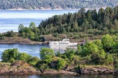 Oslofjord widzieć od hoved wyspy w Oslo Zdjęcie Stock