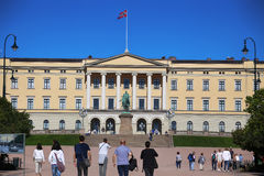 "€ OSLOS, NORWEGEN ""am 17. August 2016: Touristischer Besuch Royal Palace Stockfotos"