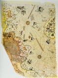 Osmańska mapa Nowy świat Zdjęcie Royalty Free