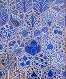 Osmański styl glazurować er ceramiczne płytki dekorowali z kwiecistymi ornamentacjami Obrazy Royalty Free