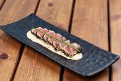 Osmaleni Ahi tuńczyka stki Obrazy Stock