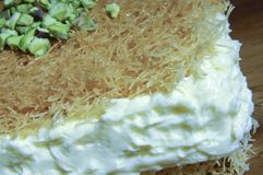 Osmaliya, Arabic Sweets for Ramadan and Eid. Osmaliya, Arabic Sweets with Cream for Ramadan and Eid Stock Photography