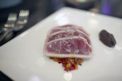 osmalony stków tuńczyka tuńczyk żółtopłetwowy Fotografia Stock