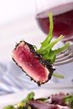Osmalony tuńczyka zbliżenie Obrazy Stock