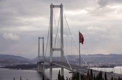 Osman Gazi Bridge Foto de archivo
