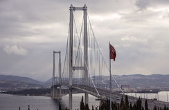 Osman Gazi Bridge Stock Photo