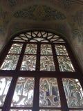 Osman Gazi mausoleum. Window detail in Bursa, Turkey Royalty Free Stock Image