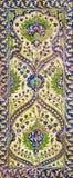 Osmaneäraart glasierte Keramikfliesen von Iznik die Türkei, die mit Blumenverzierungen verziert wurde Lizenzfreie Stockfotografie