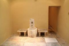 Osmane-türkisches Bad-Innenraum auf Insel von Kos in Griechenland Stockfotos