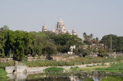 Osmania Hospital, Hyderabad. View across the River Musi in central Hyderabad looking towards the Osmania General Hospital.  Andhra Pradesh, India Stock Images