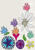 Κουκουβάγια ευτυχή Osmanthus και Flowers_eps Στοκ φωτογραφίες με δικαίωμα ελεύθερης χρήσης