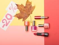 ? osmetic auf Herbstverkauf -20% Stockbild