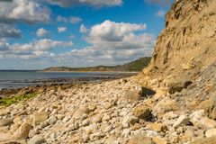 Osmington Bay, Jurassic Coast, Dorset, UK. Clouds over Osmington Bay, Osmington Mills near Weymouth, Jurassic Coast, Dorset, UK Stock Images